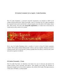 Sri Lankan Community in Los Angeles