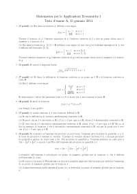 Esame 2014 Matematica Applicazioni economiche Unifi