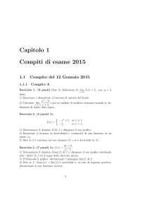 Esame 2015 Matematica Applicazioni economiche Unifi, Prove d'esame di Analisi Matematica