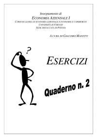 Quaderno esercizi economia aziendale prof Manetti
