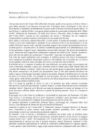 """Paper corso Etica Sociale su Seminario Riva del """"Così parlò Zaratustra"""""""