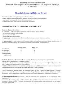 Strumenti statistici per la ricerca, la valutazione e la diagnosi in psicologia