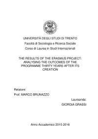 Tesi di Laurea: il programma Erasmus