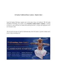 Sri Lankan Traditional Dance Academy
