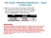 Project :To reduce moisture content in Coal Supplied.
