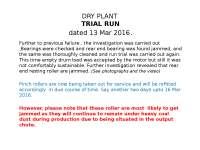 Dry Plant  Improvement