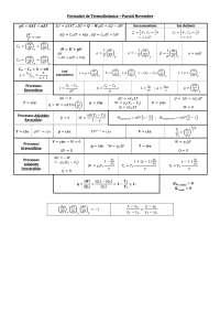 Formulario de Termodinamica (Carrera Física, UIB)