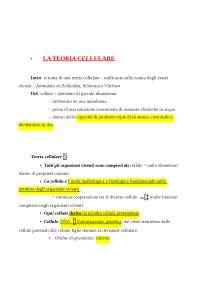 Test ammissione Medicina - Appunti sulla Biologia cellulare