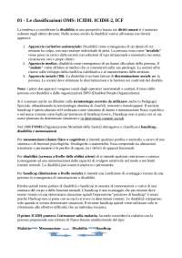 Le classificazioni OMS: ICIDH. ICIDH-2, ICF
