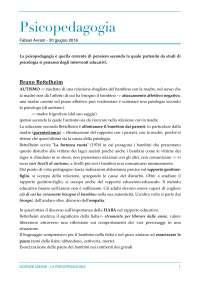 Psicopedagogia - Bettelheim, Skinner, Bruner, Freud, Spielren, Piaget,