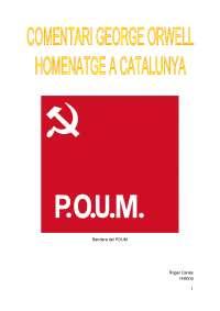 Treball Homenatge a Catalunya George Orwell