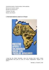Internationalisme cubain en Afrique