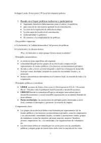 Appunti in spagnolo e italiano di Sviluppo Locale 2