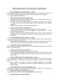 Introduction à la théorie littéraire: questions type d'examen, Examens de Littérature