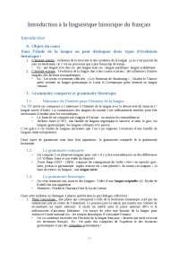 Introduction à la linguistique historique du français