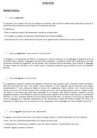 Domande e Risposte esame Linguaggi di programmazione ad oggetti, Mariateresa Celardo