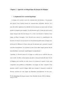 La lingua francese in belgio