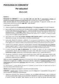 PSICOLOGIA DI COMUNITA' per educatori - Alberto Zatti