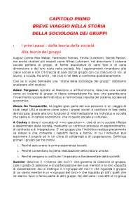 Capitolo 1 ''Sociologia dei gruppi''