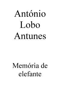 Antonio Lobo Antunes