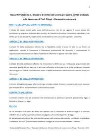 Diritto Sindacale e del Lavoro, Vallebona A., Breviario di Diritto del Lavoro, Prof. Pileggi, Università Tor Vergata