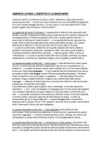 America Latina, l'identità e la maschera, Dispense di Letteratura Spagnola