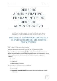 Derecho administrativo I-Fundamentos Derecho Administrativo