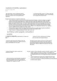 schemi diritto canonico