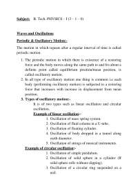 oscillation and waves notes