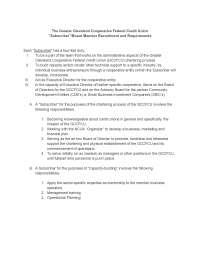 Chartering of GCFCCU