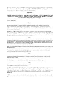 Uredba o prostornim standardima