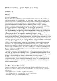 Diritto Comparato – Ipotesi Applicative; Parisi
