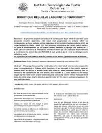 CODIGO DE ARDUINO PARA ROBOT LABERINTO
