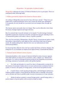 Morgenthau - Six principles of political realism