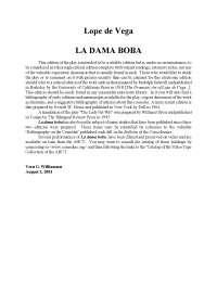 Lectures Obligatòries La Dama Boba De Lope De Vega Monografías Ensayos De Historia Del Arte Docsity