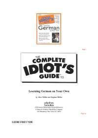 Guide to German lekcije nemackog jezika