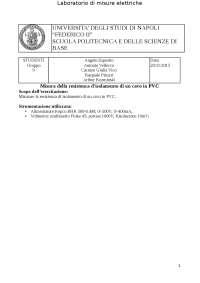 Misura di resistenza cavo in PVC