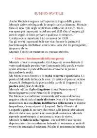 Eugenio Montale e la poesia del 900