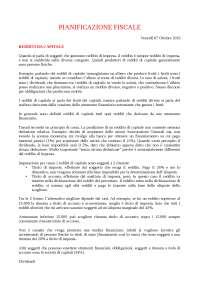 Pianificazione fiscale d'impresa Prof. Cremona