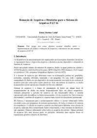 Remoção de Arquivos ou Diretórios