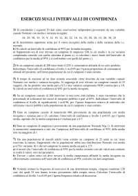 Esercizi modulo1 Statistica applicata Deldossi Unicatt economia