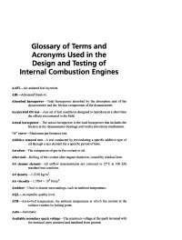Glossary of Automotive Terms