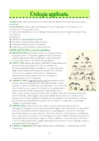 Etologia - cl produzioni animali