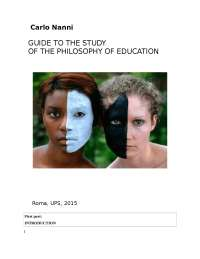 OF THE PHILOSOPHY OF EDUCATION