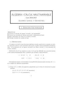 Àlgebra i càlcul multivariable: espacios vectoriales