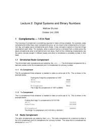 Digital Systems and Binary Numbers - Computer Fundamentals - Lecture Notes
