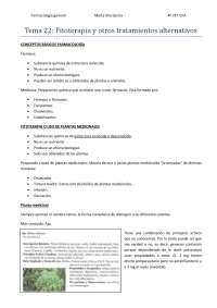 Tema 22: Fitoterapia y otros tratamientos alternativos
