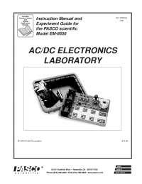 Physics Lab Manual AC-DC Electronics, Exercises for Physics