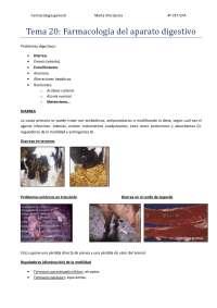 Tema 20: Farmacología del aparato digestivo