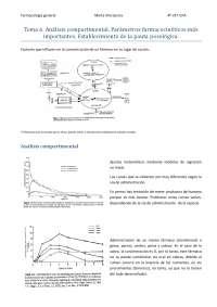 Tema 6. Análisis compartimental. Parámetros farmacocinéticos más importantes. Establecimiento de la